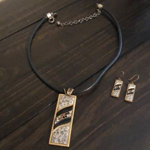 Chico's necklace with matching earrings
